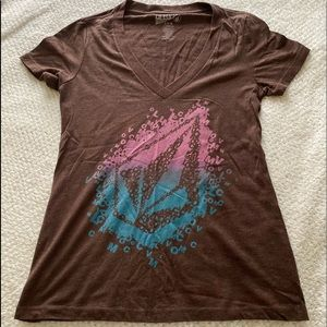 Volcom small woman's V-neck T shirt